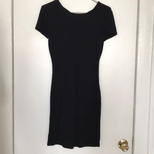 Forever 21: Ribbed Black Cotton Dress